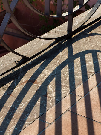 Shadows at Villa Scimone, Taormina