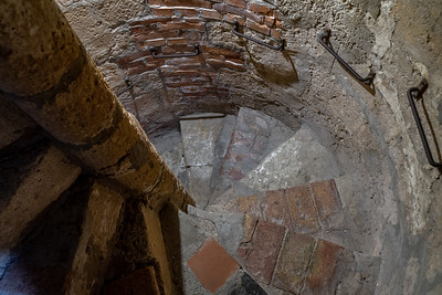 Steps to the bell tower, Erice, Sicily