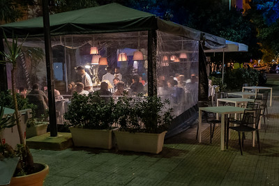 Outdoor restaurant, Palermo, Sicily