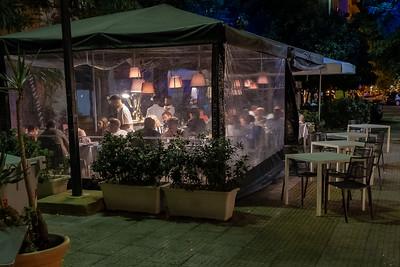 Outdoor restaurant, Palermo, Sicily