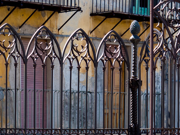 Fencing around Santa Maria's Church of Randazzo