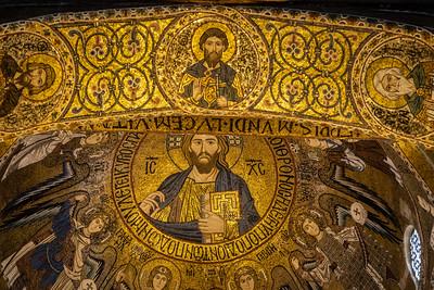 Mosaics, Palatine Chapel, Norman Palace, Palermo, Sicily