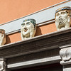 See no evil, hear no evil, speak no evil. Sicilian ceramic head pots, Taormina