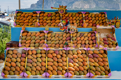 Fruit Stand, Fico d'india, prickly pear cactus