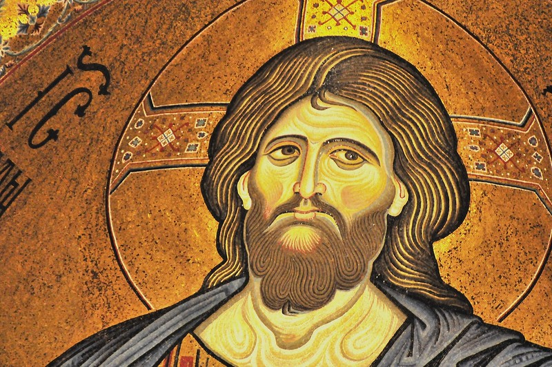 Christ mural in Cattedrale di Monreale