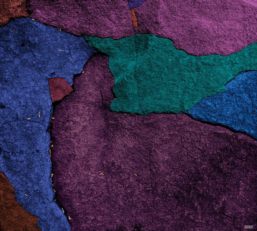 "Untitled boulder surface (26"" x 23"")"