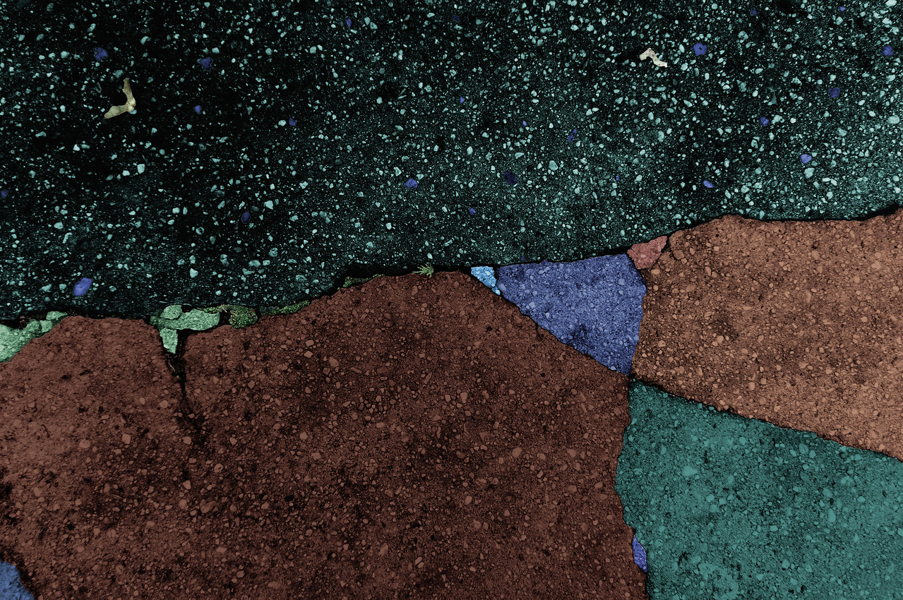"""Untitled gravel fragment with brown gravel  (36"""" x 25"""")"""