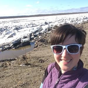 Sarah says hi to the Yukon.