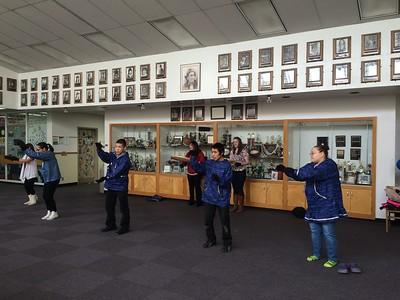GILA students rehearsing their dance performance.