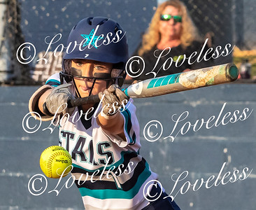 Siegel's Presley Leebrick lays down a bunt against the Lincoln County defense. JIM DAVIS