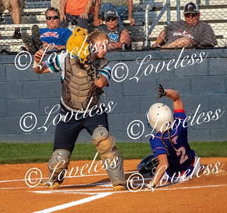 The throw to home was to late for Siegel's Hannah Millhorn to tag out Anna Marie Thorton from Lincoln County. JIM DAVIS