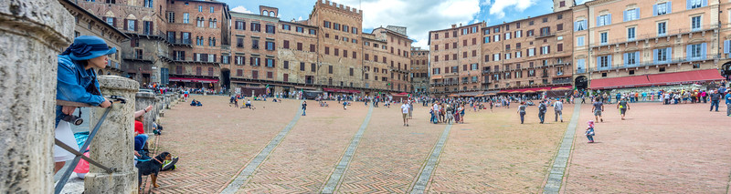 Piazza del Campo (looking left from drain)