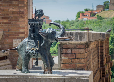 Symbol of the Liofante contrada (district) of Siena - the elephant