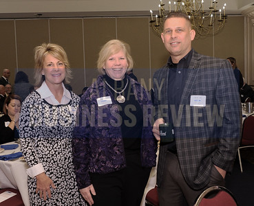 Denise Nicastro of Whiteman Osterman & Hanna, left, with Kathleen Pingelski of MicroKnowledge and Jay Hopeck of LeChase.