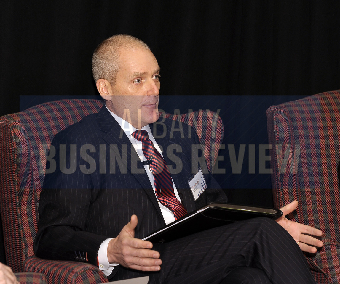 Panelist Tom Amell, president and CEO of Pioneer Bank.