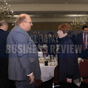 Albany Mayor Kathy Sheehan and Robert Schofield of Whiteman Osterman & Hanna.