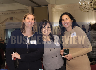 Cindy Lawrence of Gramercy Communications, left, with Jaime Butler-Binley of Brand 21 and Lori Squadere of AM&J Digital.