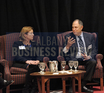 Heather Briccetti, Esq., president and CEO of The Business Council of New York State and Dr. Don Levy, director of the Siena College Research Institute.