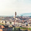 Florence with Duomo and ponte vecchio in view