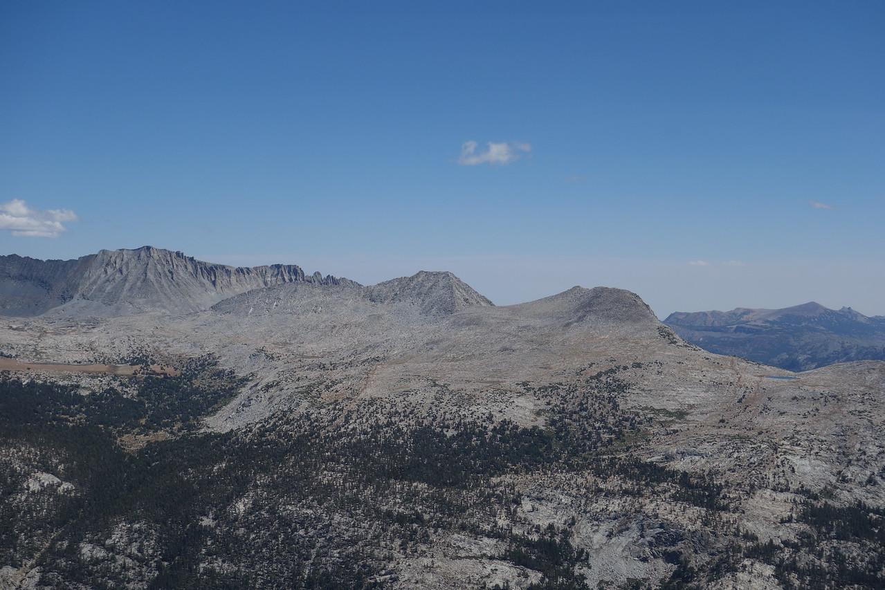 L>R: Koip Ridge, Andrea Lawrence, Donohue, Donohue Pass.