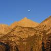 Moonset over Four Gables Sun morning.