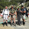 Joe, Robin, Sooz, Chip at the start of the Meysan Lakes Trail.  We sacrificed an early start for a yummy breakfast at the Portal store. Didn't hit the trail until 0900.