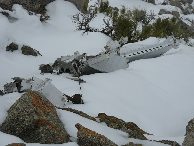 Wreckage of a Piper Cub