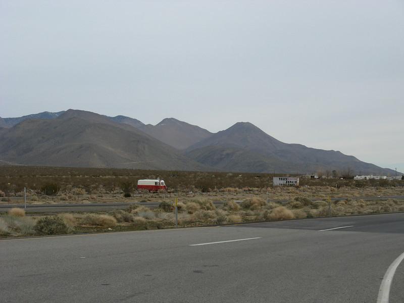 Chukkar Peak (R), Deer Peak to it's left as seen from Pearsonville