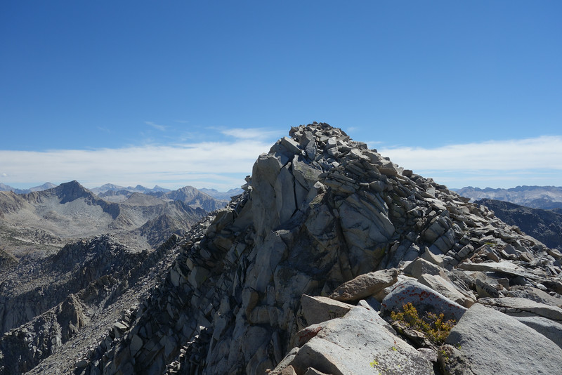 What I saw when I popped up on the ridge.  Summit is actually a few rock piles behind this one.