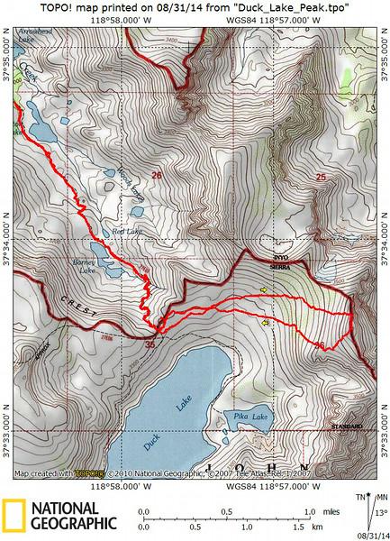 Duck Lake Peak Track