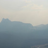 Cathedral Peak in the smoke.