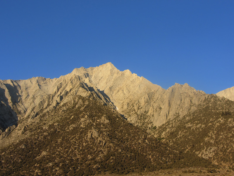 Lone Pine Peak as seen from the Whitney Portal Rd.