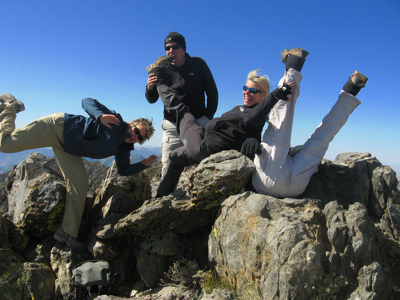 That's got to be one of the silliest summit shots!