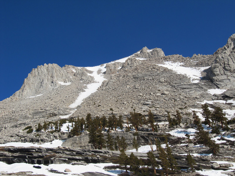 Our route to the Russell-Carillon plateau comes into view