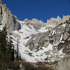 Lower Boy Scout Lake and the exit to the slabs... all snow babeee!