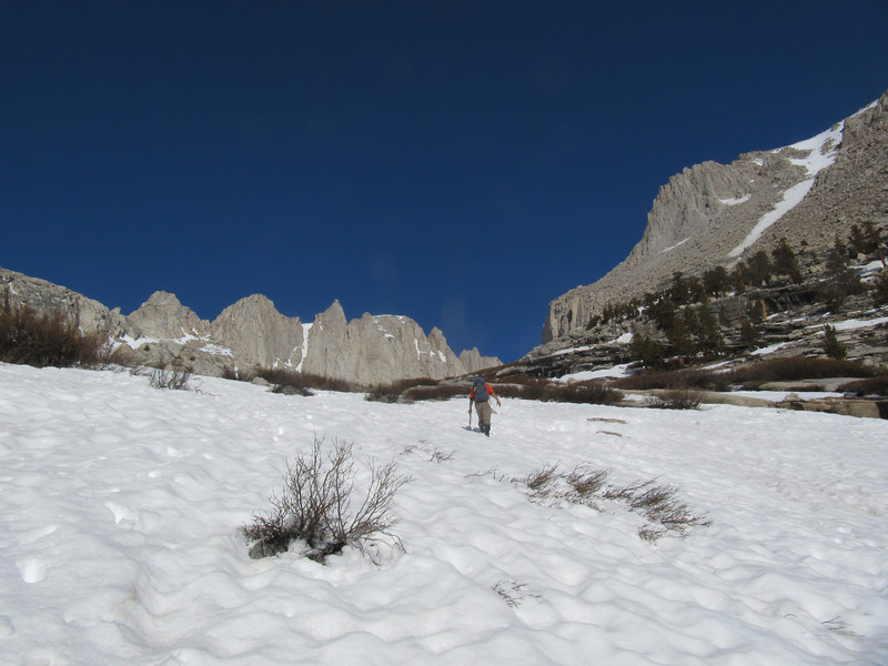 Most of the slabs were under snow.
