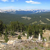 Looking west, we have a nice view of Yosemite.  Tuolomne Meadows is about in center.