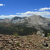 Mammoth Peak (R) with Kuna Crest to its south (L).