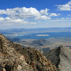 Mono Lake and view east from summit