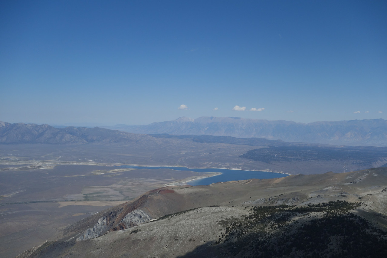View E.  lake Crowley, Montgomery Peak in distance L