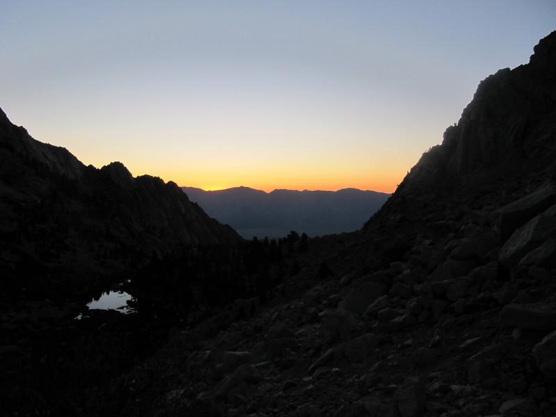 Sunrise above Lower Boy Scout Lake
