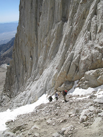 Me, Richard and Tom almost to the top o' da notch (photo by SierraGator)