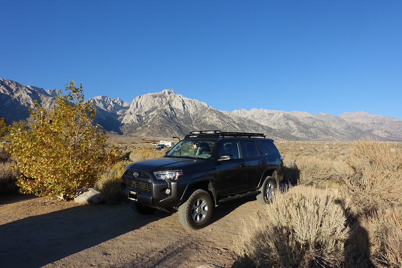...meanwhile back at camp the next morning.  Helllooooo Lone Pine!