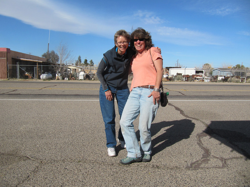 Not exactly the Owen's River... but... enroute to Mammoth, I stopped for lunch in Inyokern with pal Rachel.