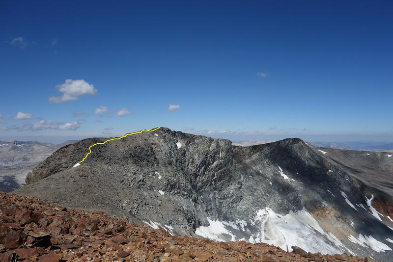 Kuna Peak as seen from Koip.  Kuna glacier.