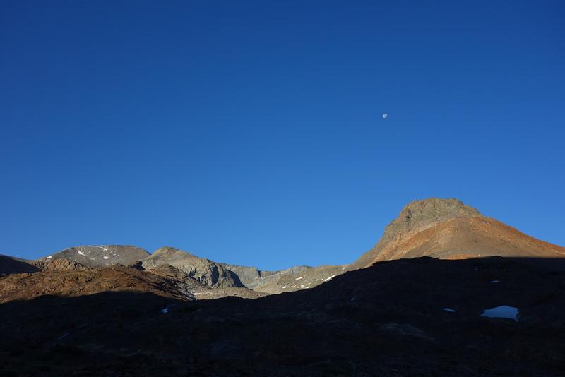 Moonset on Saturday