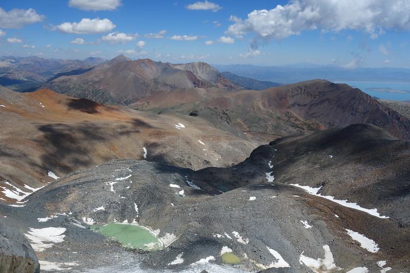 Glacial lake below Kuna Peak.  Parker Canyon beyond.