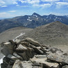 View S from the summit.  Mt. Dana sticking up in the background.  Peak 11,887 in foreground (R).