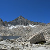 Topping out at the pass, this is the view!  Lake 11,725, Feather Peak