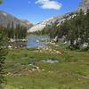 Looking back at Upper Pine Lake